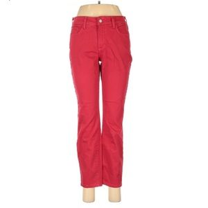 NYDJ Ankle Straight Leg Jeans Flat Front Size 6P